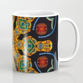 Gold Mandala Black Coffee Mug