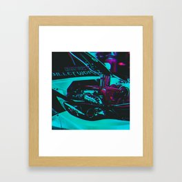 Cyberpunk Car Framed Art Print