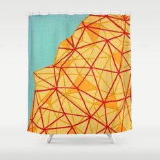 - city close to the sea - Shower Curtain