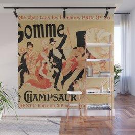 La Gomme by Champsaur vintage belle epoque ad Jules Chéret Wall Mural