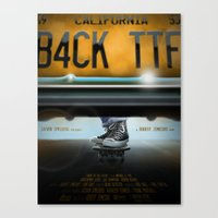 Back To The Future- All Star Canvas Print