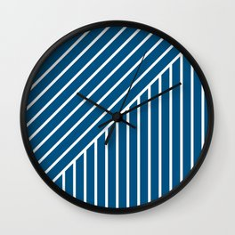 Slant And Down-Blue Wall Clock