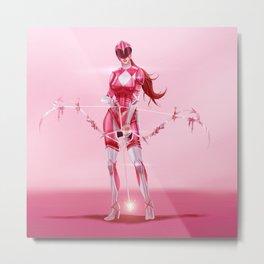 Pink Ranger Metal Print