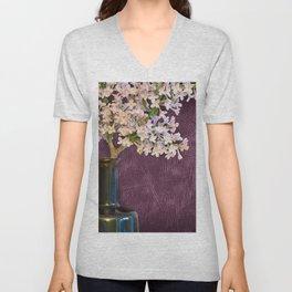 Lilac and Bottle Unisex V-Neck