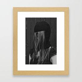 Hairy Face B&W Framed Art Print