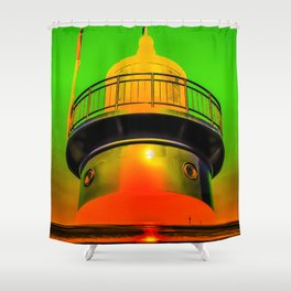 Lighthouse romance 100 Shower Curtain