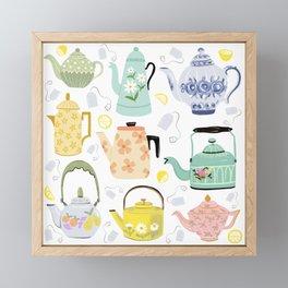 Vintage Teapots Framed Mini Art Print