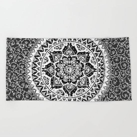 Yin Yang Mandala Pattern Beach Towel