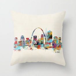 saint louis missouri skyline Throw Pillow