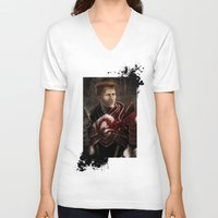 "dragon age inquisition V-neck T-shirts featuring Krem - Dragon Age/Mass Effect crossover by Barbara ""Yuhime"" Wyrowińska"