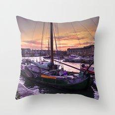 Bristol Harbour Sunset Throw Pillow