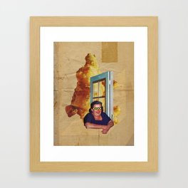 you discovered you didn't have to behave Framed Art Print