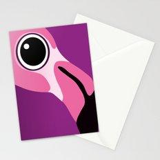 Cute Flamingo Portrait Stationery Cards