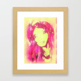 pink1 Framed Art Print