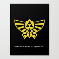 hyrule Canvas Prints featuring Hyrule Hero by Head Glitch