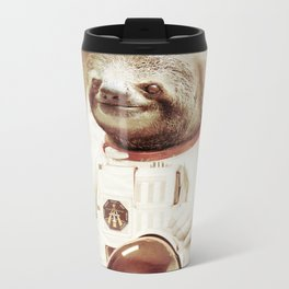 Sloth Astronaut Metal Travel Mug