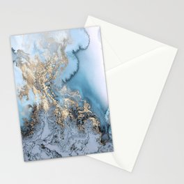 Gold and Blue Marble Stationery Cards