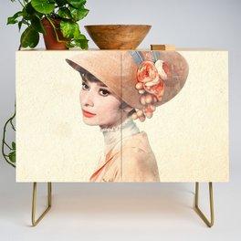 Audrey Hepburn - Eliza Doolittle - Watercolor Credenza