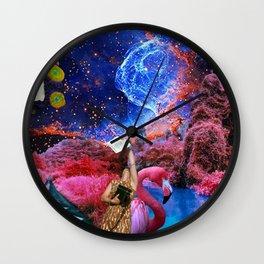 COLLAGE ART BOARD Wall Clock