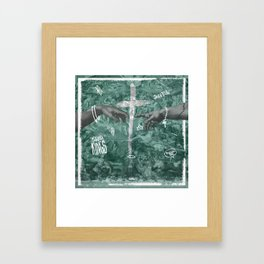 Gods touch Framed Art Print