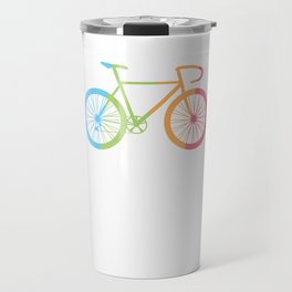 Bicycle Cyclist BMX Bikers Bicycling Cycling Exercise Workout Pedal Colorful Bike Gift Travel Mug