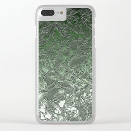 Grunge Relief Floral Abstract G167 Clear iPhone Case