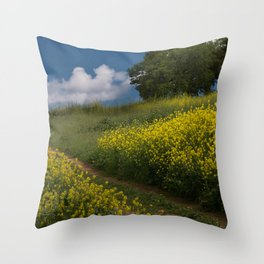 Almaden Meadows' Mustard Blossoms Throw Pillow