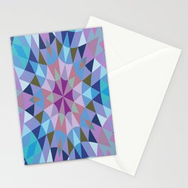 Retro Geometry Mandala Lavender Blue Stationery Cards