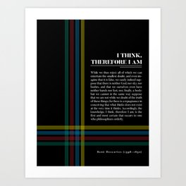 Philosophia II: I think, therefore I am Art Print