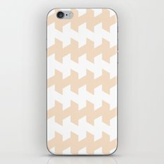 jaggered and staggered in linen iPhone & iPod Skin