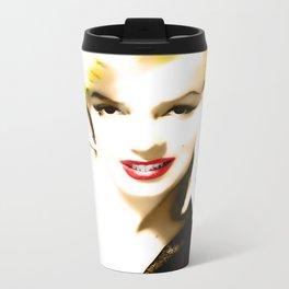 Portrait of  Marilyn Monroe Metal Travel Mug