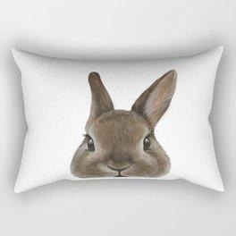 Netherland Dwarf rabbit illustration original painting print Rectangular Pillow