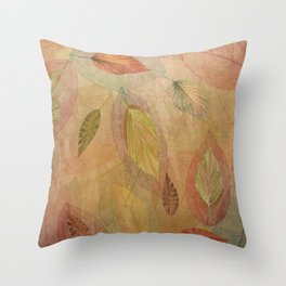 Swirling Fall Leaves Throw Pillow