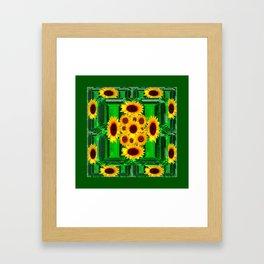 SPRING GREEN YELLOW FLOWERS  ART DECORATIVE  DESIGN Framed Art Print