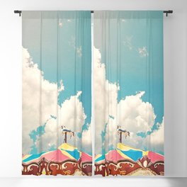 Carousel and Clouds Blackout Curtain