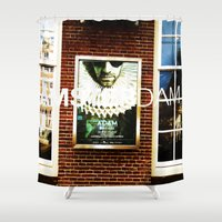 movie posters Shower Curtains featuring Amsterdam Posters by Cristhian Arias-Romero