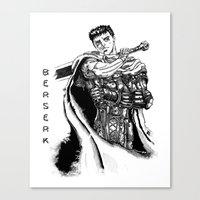 berserk Canvas Prints featuring GATSU BERSERK by deianaluca