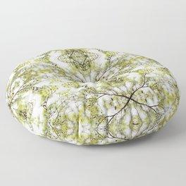Spring Pine Tree Branch Floor Pillow