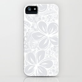 Maui Polynesian Silver Wedding iPhone Case