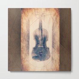 Stradivarius Spiral Violin Metal Print