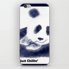 Just Chillin' Whimsical Panda Bear Design iPhone Skin