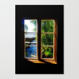 Window with a view 4 Kukkola river Canvas Print
