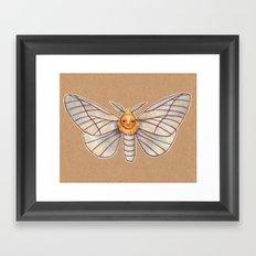 Un-Natural Selection: Wooly Collared Mango Plumosa Framed Art Print