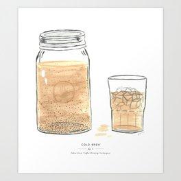 Cold Brew Coffee Art Print