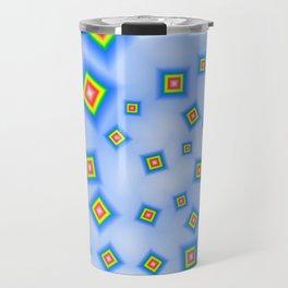 Pattern of disorganized multicolored paintings Travel Mug