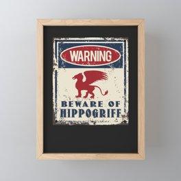 Hippogriff Warning Beware Framed Mini Art Print