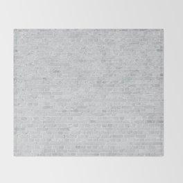 White Washed Brick Wall Stone Cladding Throw Blanket
