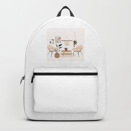 Minimal Bohemian Room  Backpack