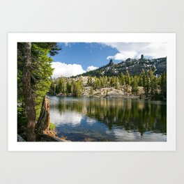 Kirkwood Lake, Eldorado National Forest, California Art Print