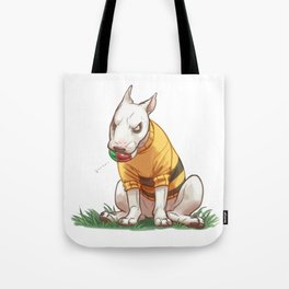 Mad dog in bumble bee sweater  Tote Bag
